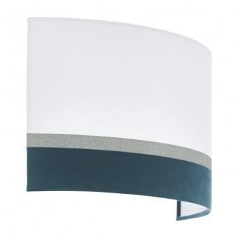 текстилен аплик, white, eglo, spaltini, 2x40w, 39556