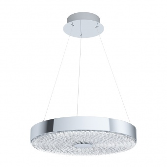 метален пендел, chrome, eglo, escorihuel, led 19w, 3000k, 2500lm, 39571