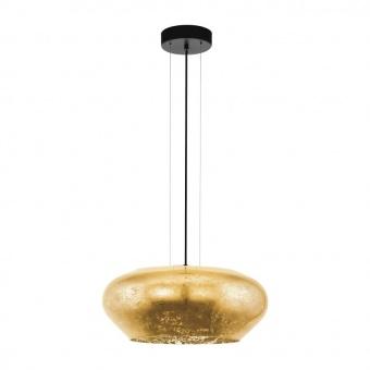 стъклен полилей, gold, eglo, priorat, 3x20w, 39595