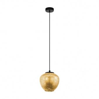 стъклен пендел, gold, eglo, priorat, 1x40w, 39596
