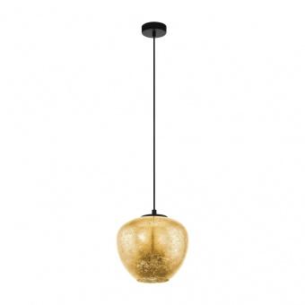 стъклен пендел, gold, eglo, priorat, 1x40w, 39597