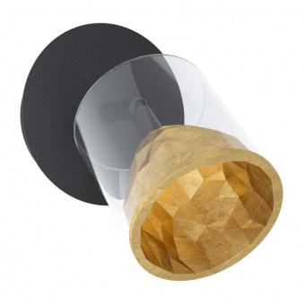 метален спот, gold, eglo, melito, led 1x5.4w, 3000k, 1x510lm, 39573