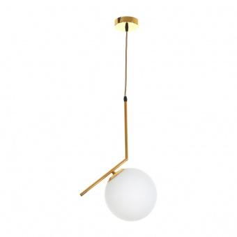 стъклен пендел, злато, elbulgaria, 1x40w, 2107/sh gd