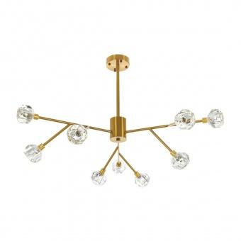 стъклен полилей, злато, elbulgaria, 9x25w, 2102/9