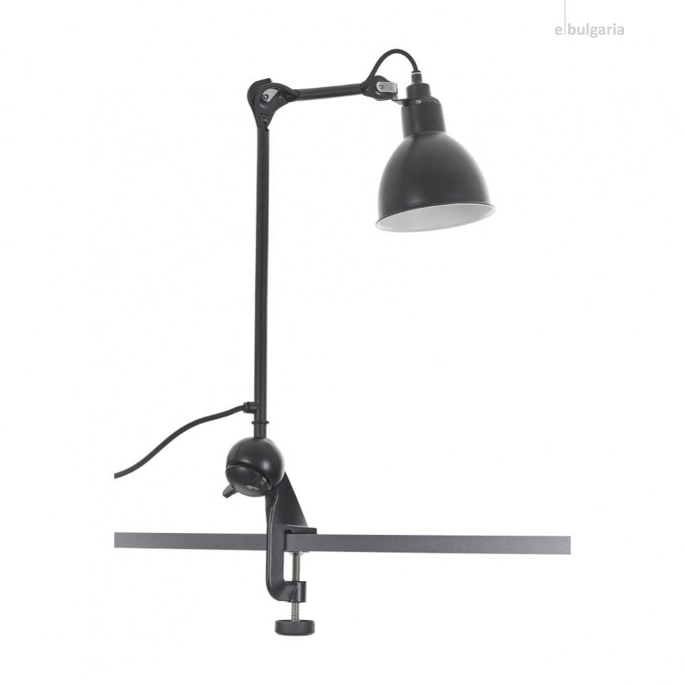 метална работна лампа, черна, elbulgaria, 1x40w, 2096 bk