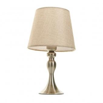 текстилна настолна лампа, бронз, elbulgaria, 1x40w, 2069/ab m032