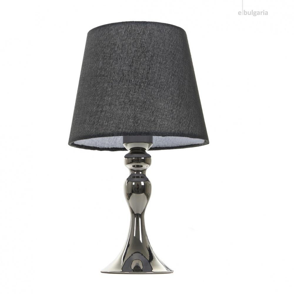 текстилна настолна лампа, черна, elbulgaria, 1x40w, 2069/bk m022