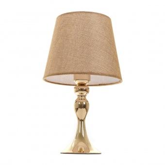текстилна настолна лампа, злато, elbulgaria, 1x40w, 2069/gd m001
