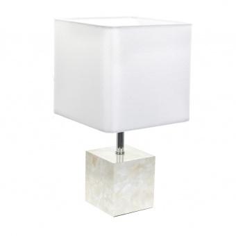 текстилна настолна лампа, бял, elbulgaria, 1x40w, 2068/s d337