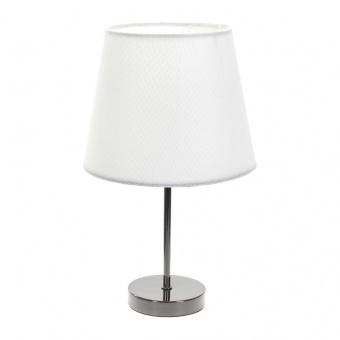 текстилна настолна лампа, бяла, elbulgaria, 1x40w, 2067/bk d337