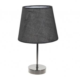 текстилна настолна лампа, черна, elbulgaria, 1x40w, 2067/bk m022