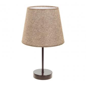 текстилна настолна лампа, кафяв, elbulgaria, 1x40w, 2067/cf d333
