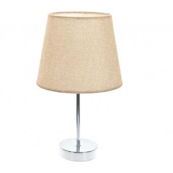 текстилна настолна лампа, крем, elbulgaria, 1x40w, 2067/ch d331