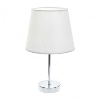 текстилна настолна лампа, бяла, elbulgaria, 1x40w, 2067/ch d337