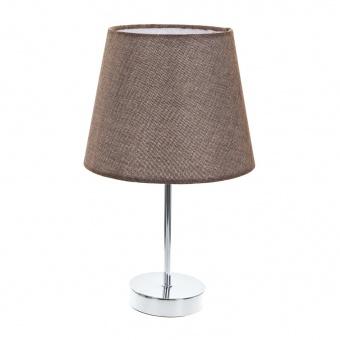 текстилна настолна лампа, кафява, elbulgaria, 1x40w, 2067/ch gy