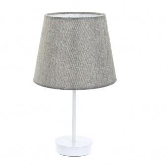 текстилна настолна лампа, сива, elbulgaria, 1x40w, 2067/wh gy