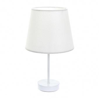 текстилна настолна лампа, бяла, elbulgaria, 1x40w, 2067/wh d337