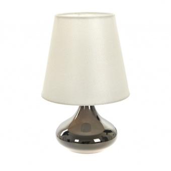 текстилна настолна лампа, черна, elbulgaria, 1x40w, 2066/bk d338