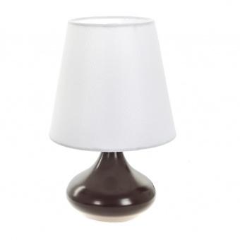 текстилна настолна лампа, кафява, elbulgaria, 1x40w, 2066/cf