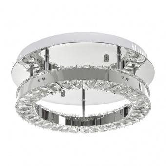 кристален плафон, хром, elbulgaria, led 16w, 6000k, 2046/3r 16w