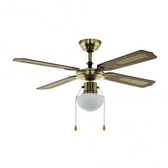 таванен вентилатор, antique brass, eglo, tiggano, 1x60w, 3 степени на работа, 35039