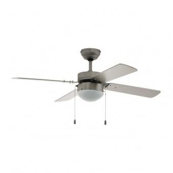 таванен вентилатор, nickel mat, eglo, gelsina, 1x60w, 3 степени на работа, 35041