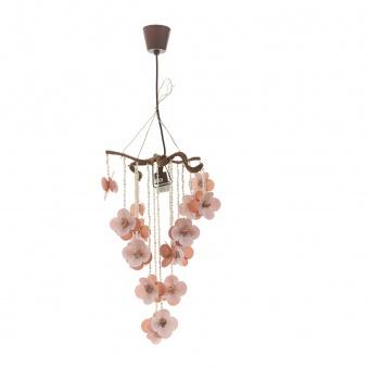 пендел от мидички, розов, elbulgaria, 1x40w, eli 21/pk