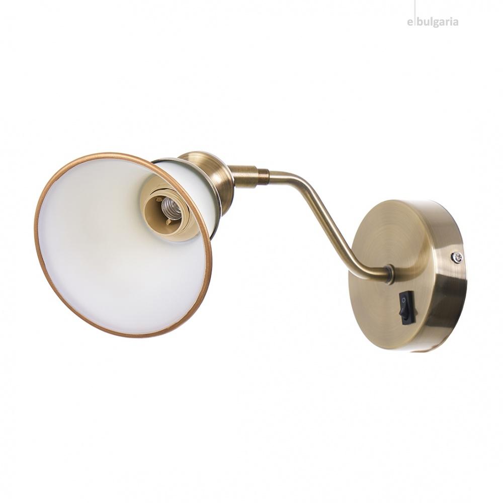 стъклен спот, бронз, elbulgaria, 1x40w, 1984/1w