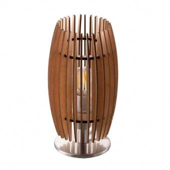 дървена настолна лампа, nickel matt, nino, parkey, 1x40w, 51440146
