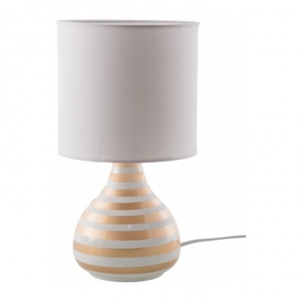 керамична настолна лампа, gold-white, nino, rachel, 1x14w, 51601145
