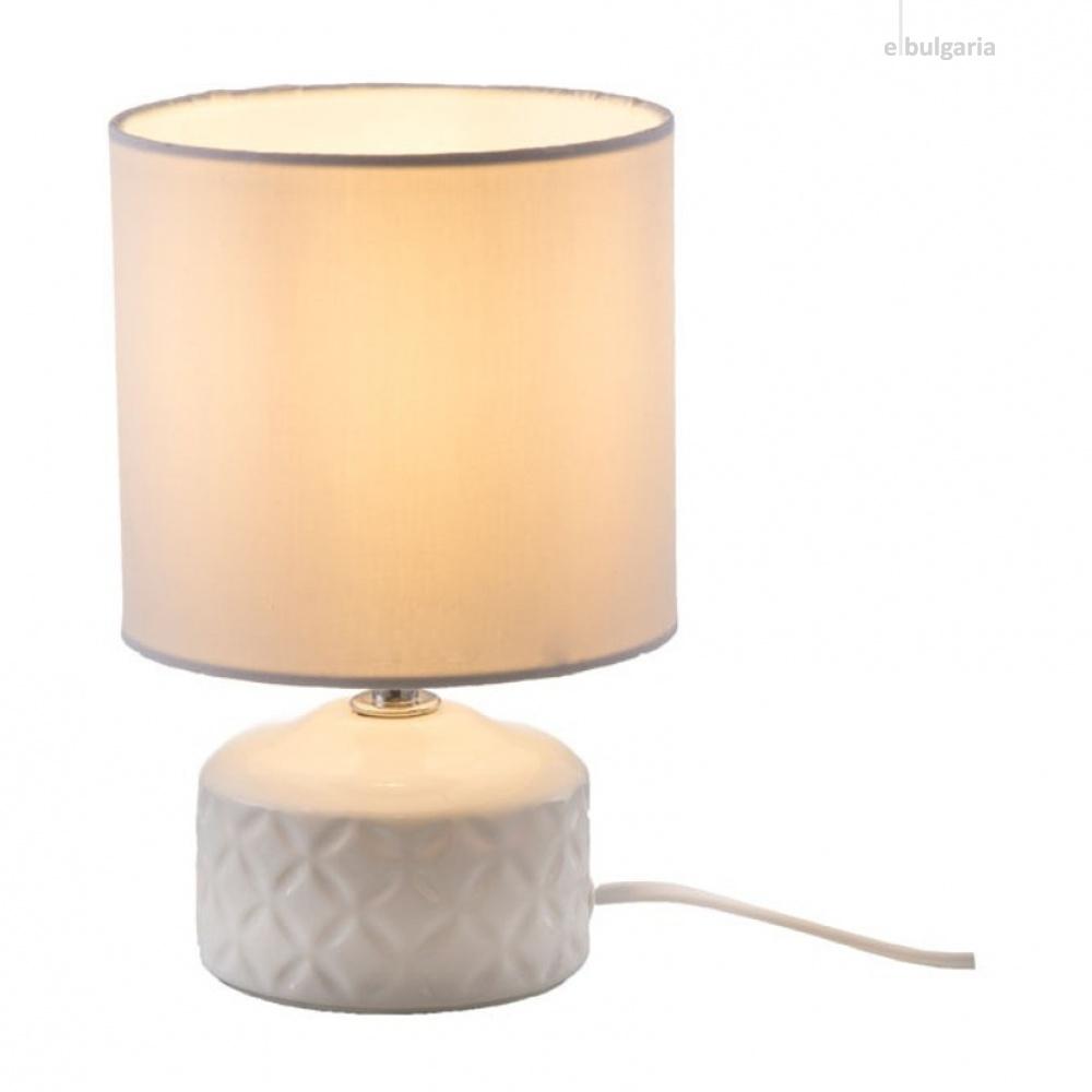 керамична настолна лампа, white, nino, jon, 1x40w, 52210107