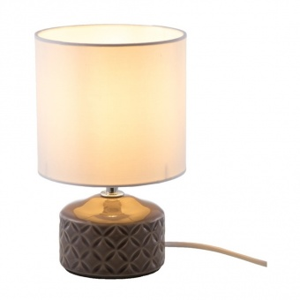 керамична настолна лампа, taupe, nino, jon, 1x40w, 52210124