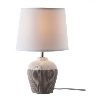 керамична настолна лампа, brown, nino, samira, 1x40w, 52320102