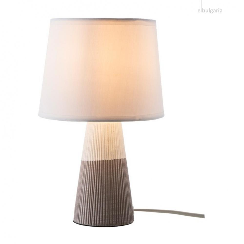 керамична настолна лампа, brown, nino, samira, 1x40w, 52330102
