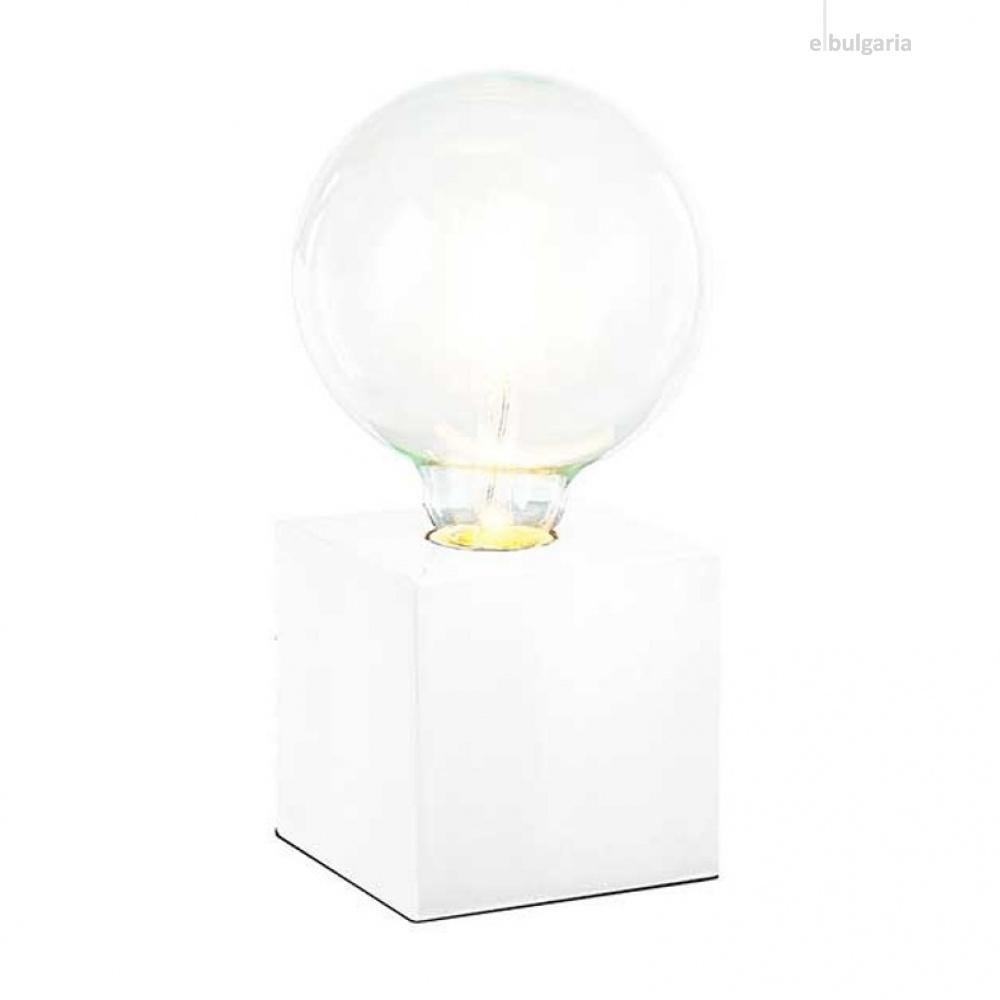 метална настолна лампа, white, nino, leone, 1x40w, 50240107
