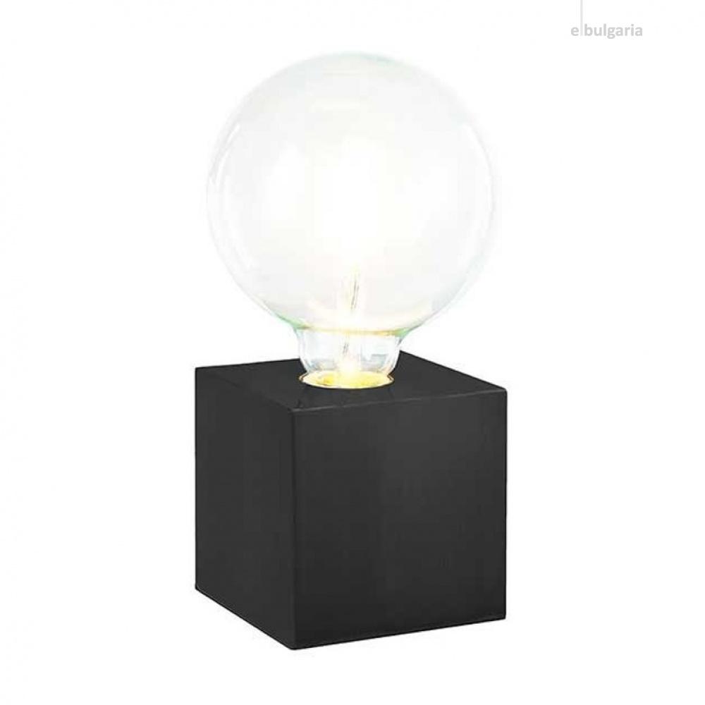 метална настолна лампа, matte black, nino, leone, 1x40w, 50240108