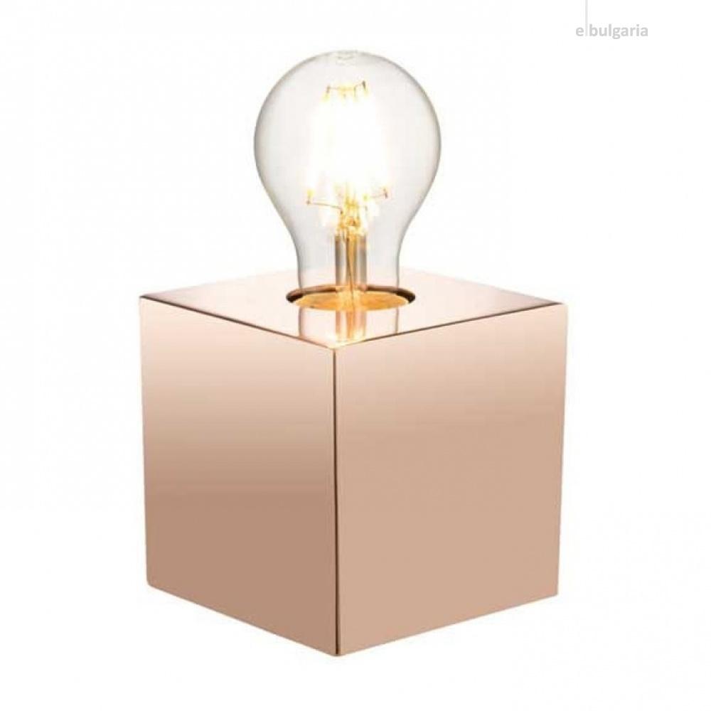 метална настолна лампа, copper, nino, leone, 1x40w, 50240152