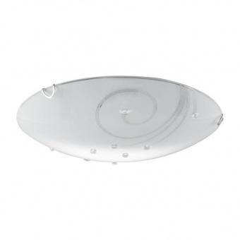 стъклен плафон, opal white, nino, tonza, led 20w, 3000k, 1900lm, 60634007