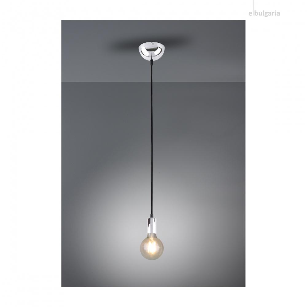 метален пендел, chrome, trio, cord, 1x60w, 310100106