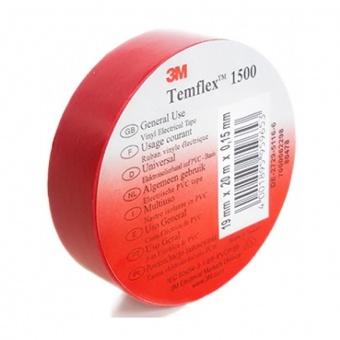 изолирбанд лента, червена, temflex, 10m, 906015