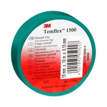 изолирбанд лента, зелена, temflex, 10m, 906077