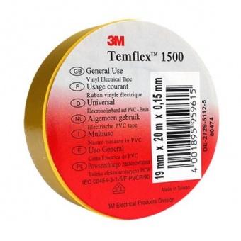 изолирбанд лента, жълта, temflex, 10m, 905933