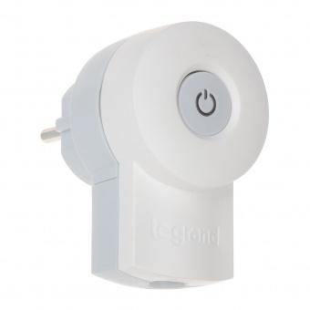 Щепсел с копче и LED индикация, бял, 2P+T,16а, 230v, 3680w, legrand, 50409
