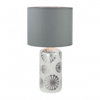 настолна лампа, white/silver/grey, rabalux, ginger, 1xE27, 6029