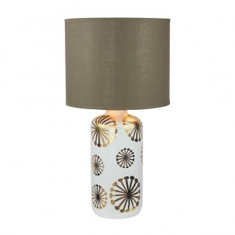 настолна лампа, white/gold/brown, rabalux, ginger, 1xE27, 6030