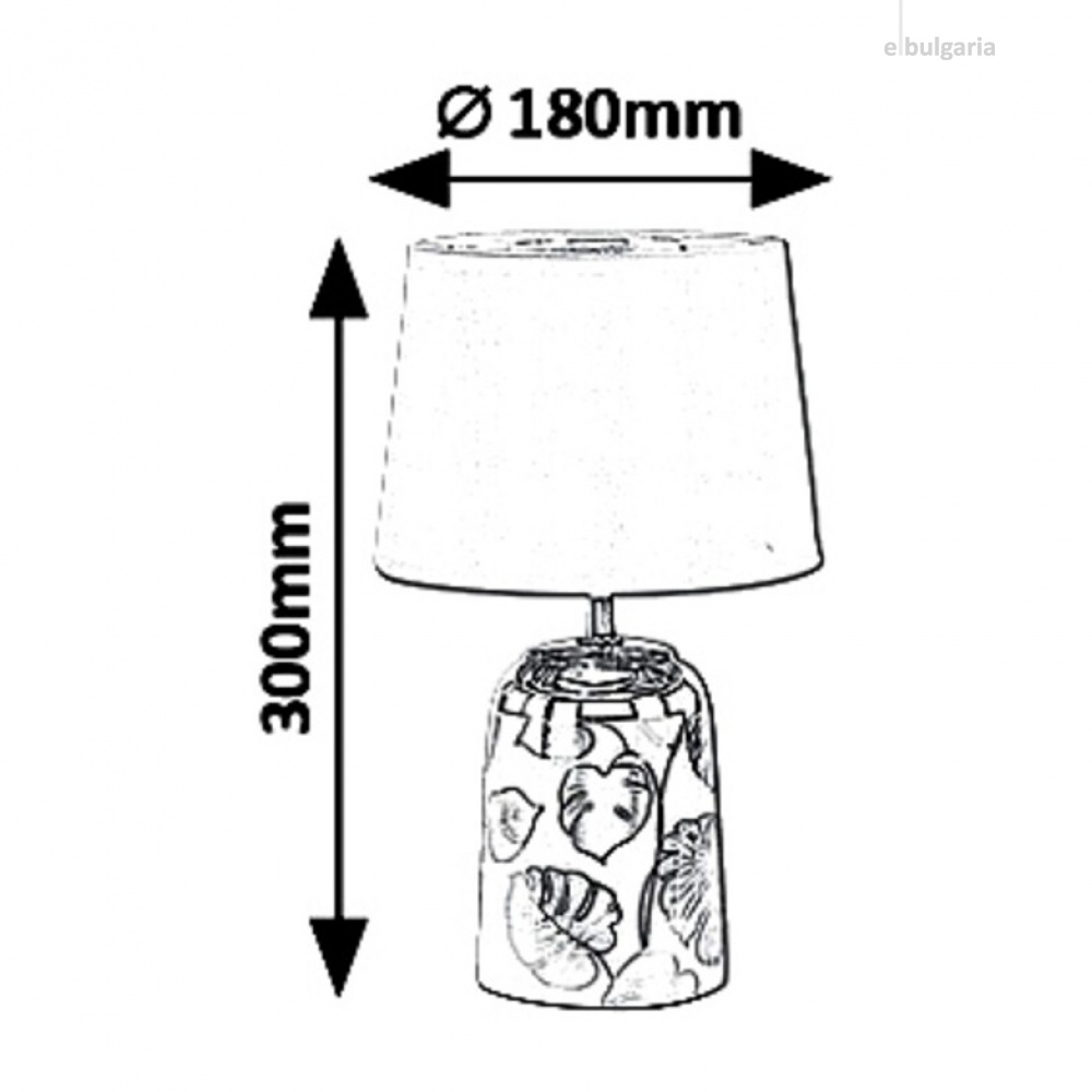настолна лампа, silver/white, rabalux, sonal, 1xE14, 4548