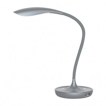 работна лампа, grey, rabalux, belmont, led 5w, 3000k, 400lm, 6419