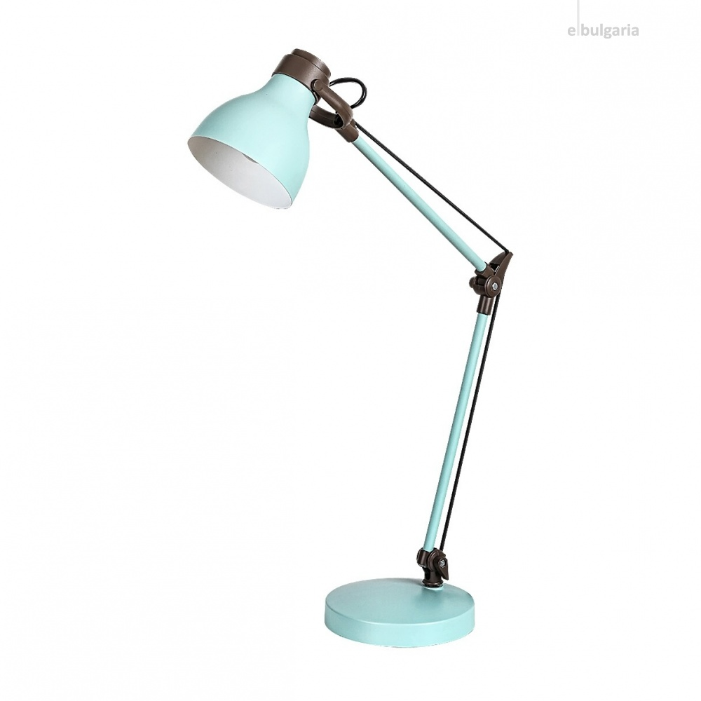 работна лампа, mint/brown, rabalux, carter, 1xE14, 6409