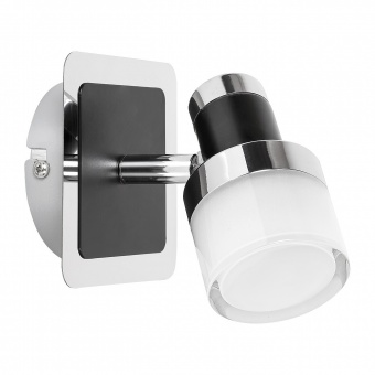 спот, chrome/black/opal glass, rabalux, harold, led 5w, 4000k, 400lm, 5021