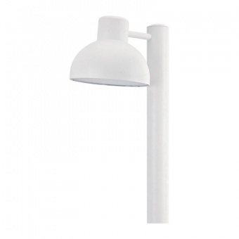 градински стълб bero, white, 1xE27, aca lighting, bero1powh